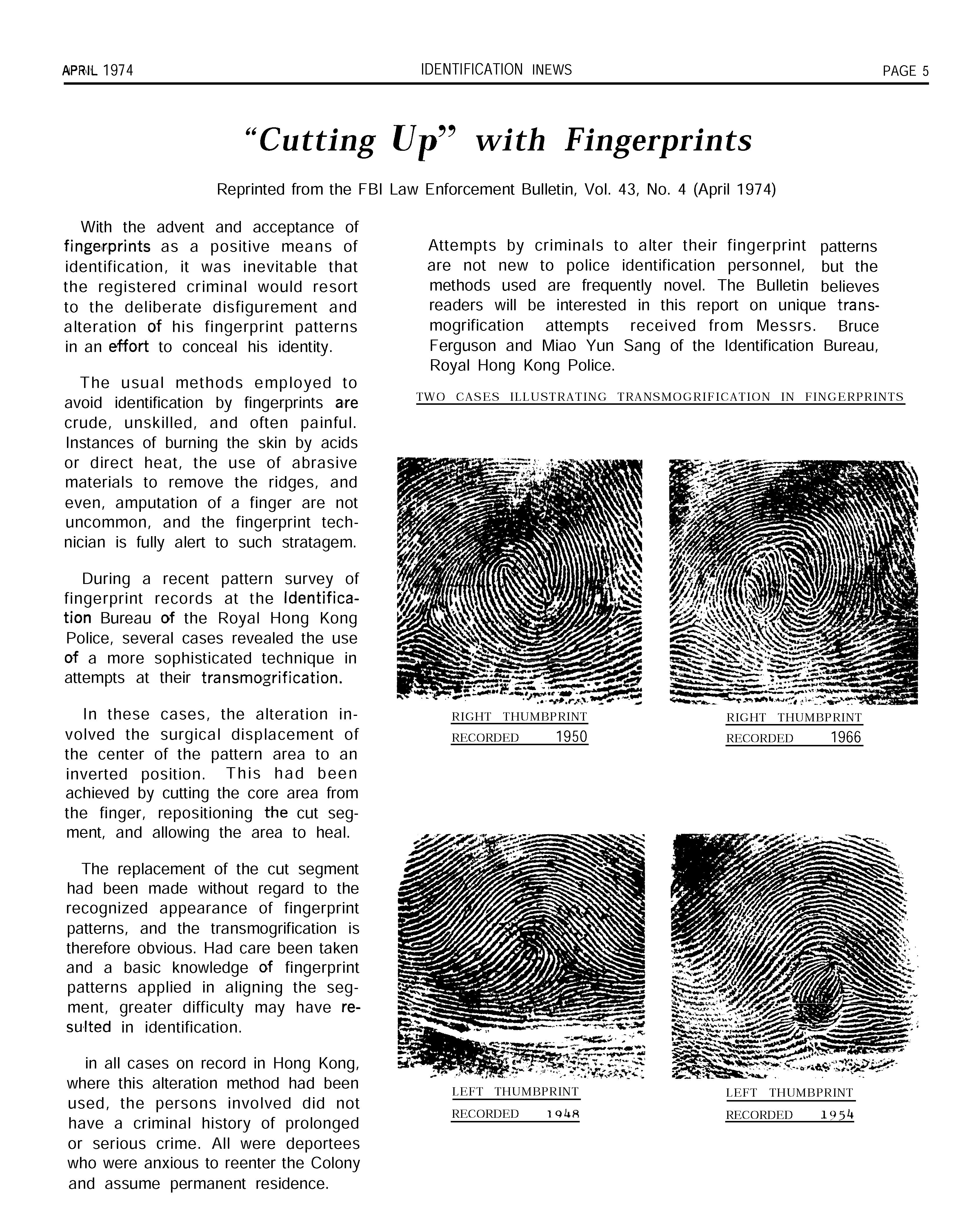 Latent Print Examination